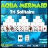 Aqua Mermaid Tri Solitaire