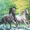 Fabulous Running Horses Puzzle game