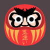 Grumpy Daruma