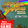 Play Hippies vs Yuppies game!