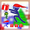 Stick Santa Gift Collect game