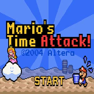 Super Mario Time Attack game
