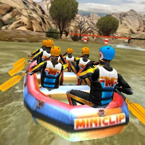 Play White Water Rafting game!
